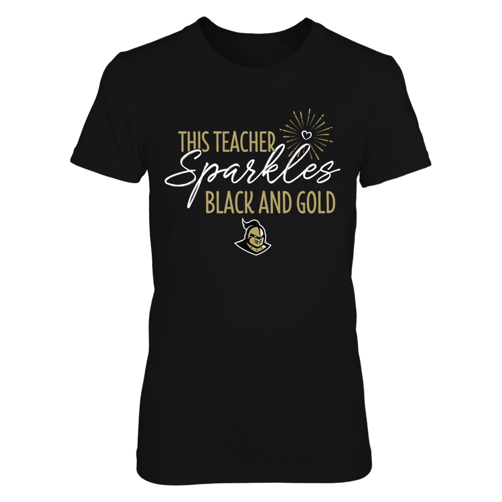 This Teacher Sparkles UCF Knights Colors T-Shirt | Tank Front picture