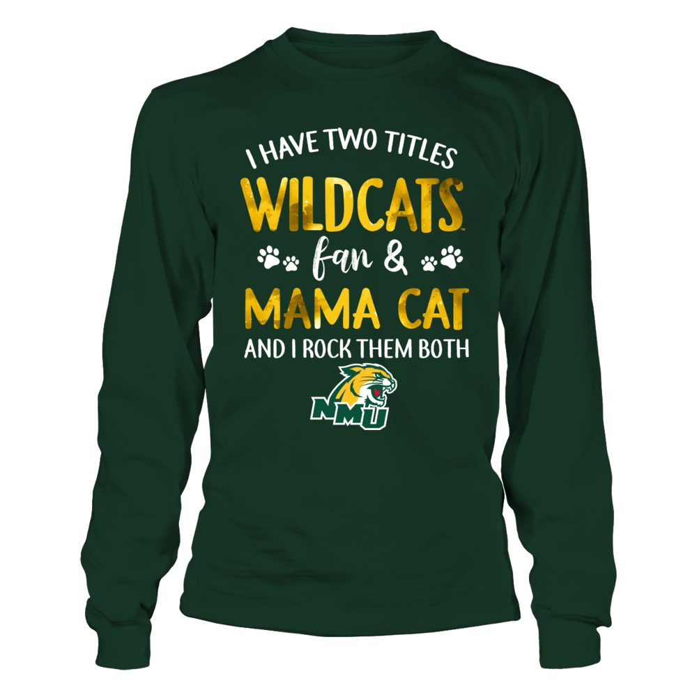Northern Michigan Wildcats - 2 titles - Fan and Mama Cat Front picture