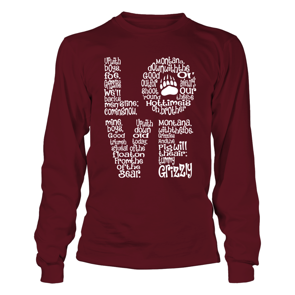 Montana Grizzlies - Fight Song Inside Stacked Love Front picture
