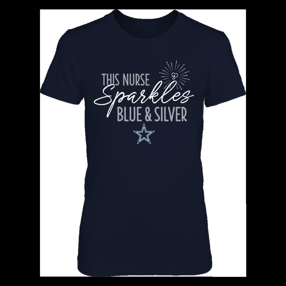 This Nurse Sparkles Dallas Cowboys Colors T-Shirt | Tank Front picture
