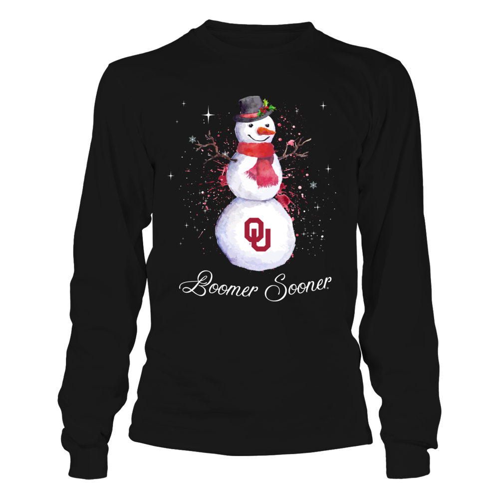 Oklahoma Sooners - Christmas - Color Drop Snowman Front picture
