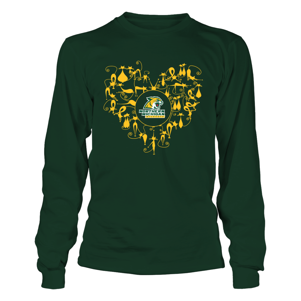 Northern Michigan Wildcats - Heart Of Cats Front picture