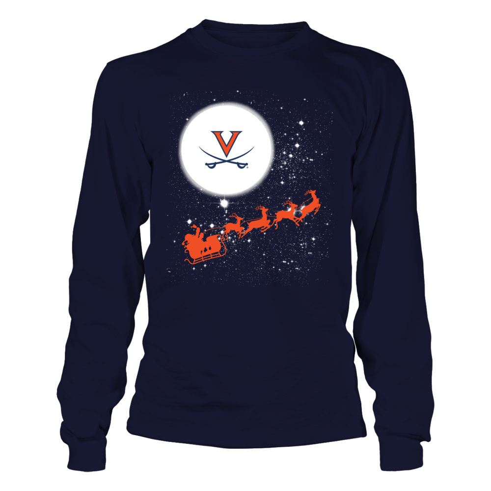 Virginia Cavaliers - Christmas - Football Sleigh Front picture
