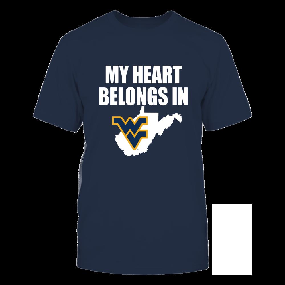 West Virginia University - My Heart Belongs in WV Front picture