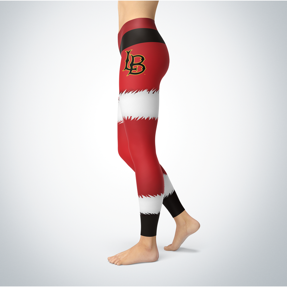 Santa Desing Long Beach State 49ers Leggings Front picture