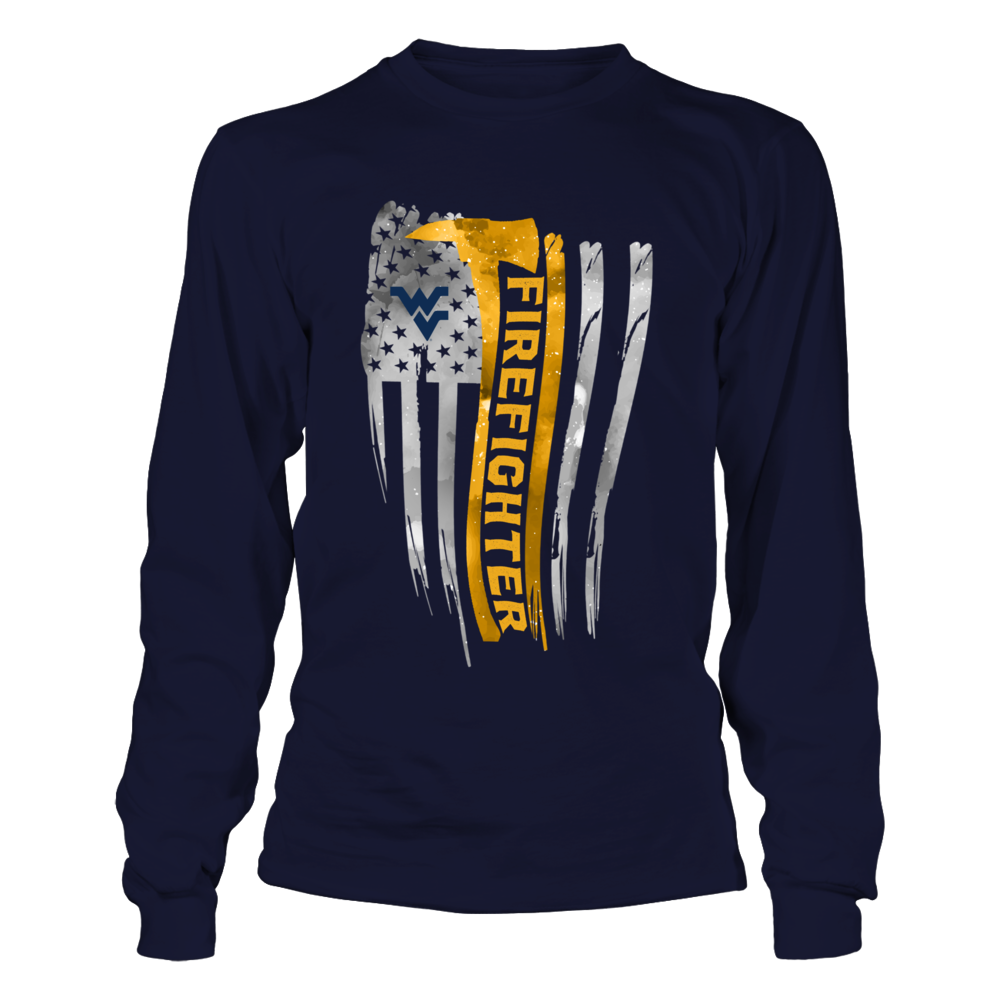 West Virginia Mountaineers - Firefighter - Galaxy Flag Shirt Front picture
