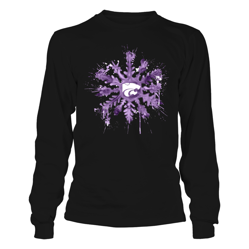Kansas State Wildcats - Christmas - Color Drop Team Snowflake Front picture