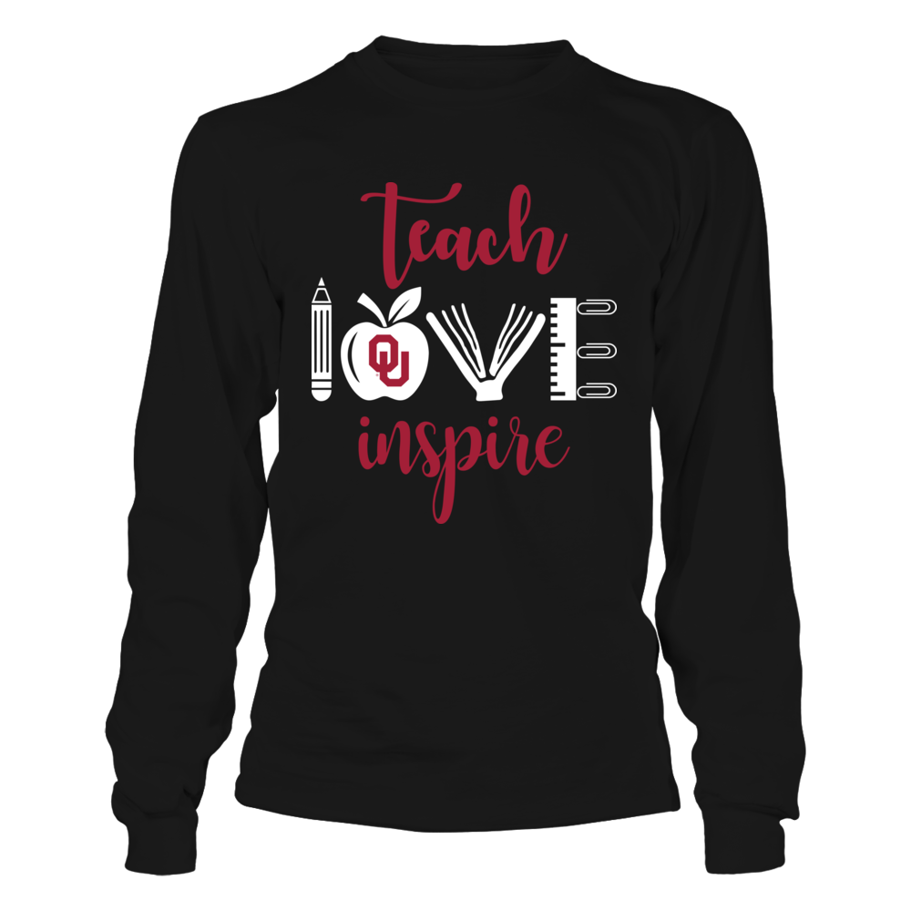 Oklahoma Sooners - Teacher - Teach Love Inspire And Teacher Things Front picture