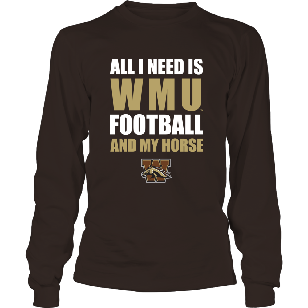 Western Michigan Broncos - All I Need - Football and Horse Front picture