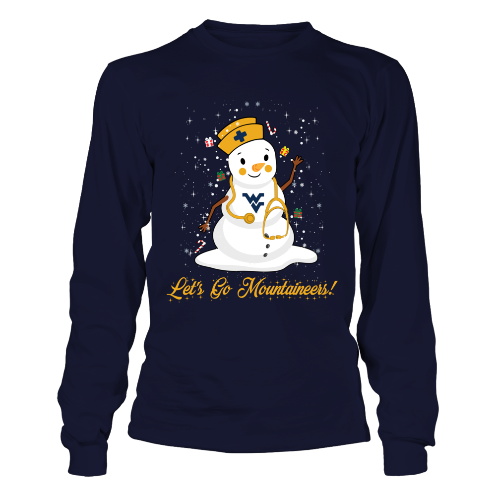 West Virginia Mountaineers - Christmas - Nurse - Snowman Front picture