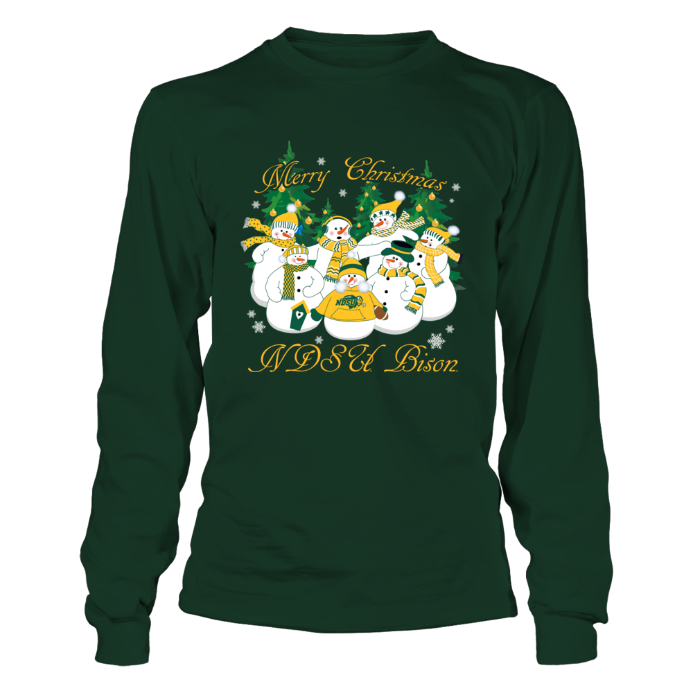North Dakota State Bison - Merry Christmas Snowman Front picture