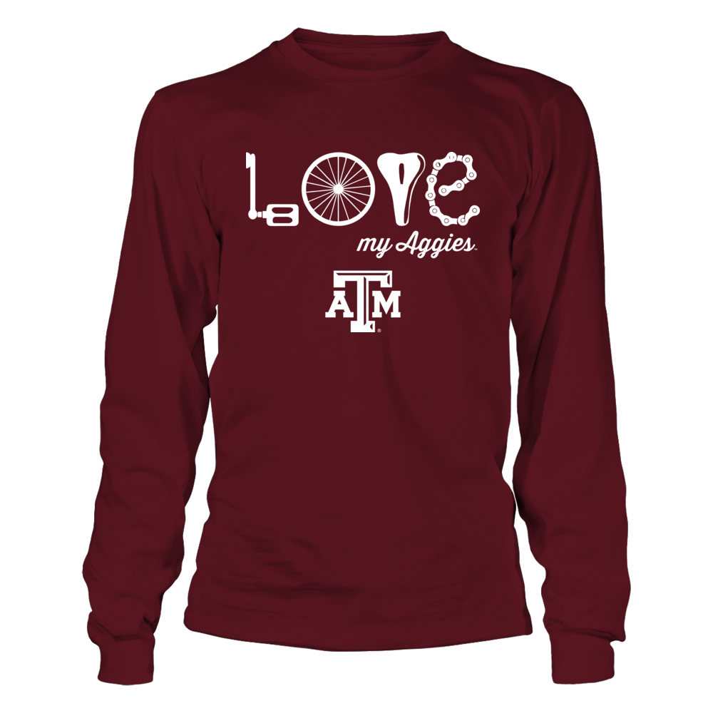 Texas A&M Aggies - Cycling - Love My Team Front picture