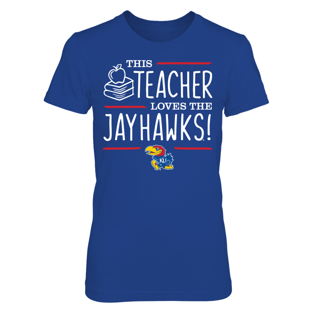 This Teacher Loves the Kansas Jayhawks T-Shirt Front picture