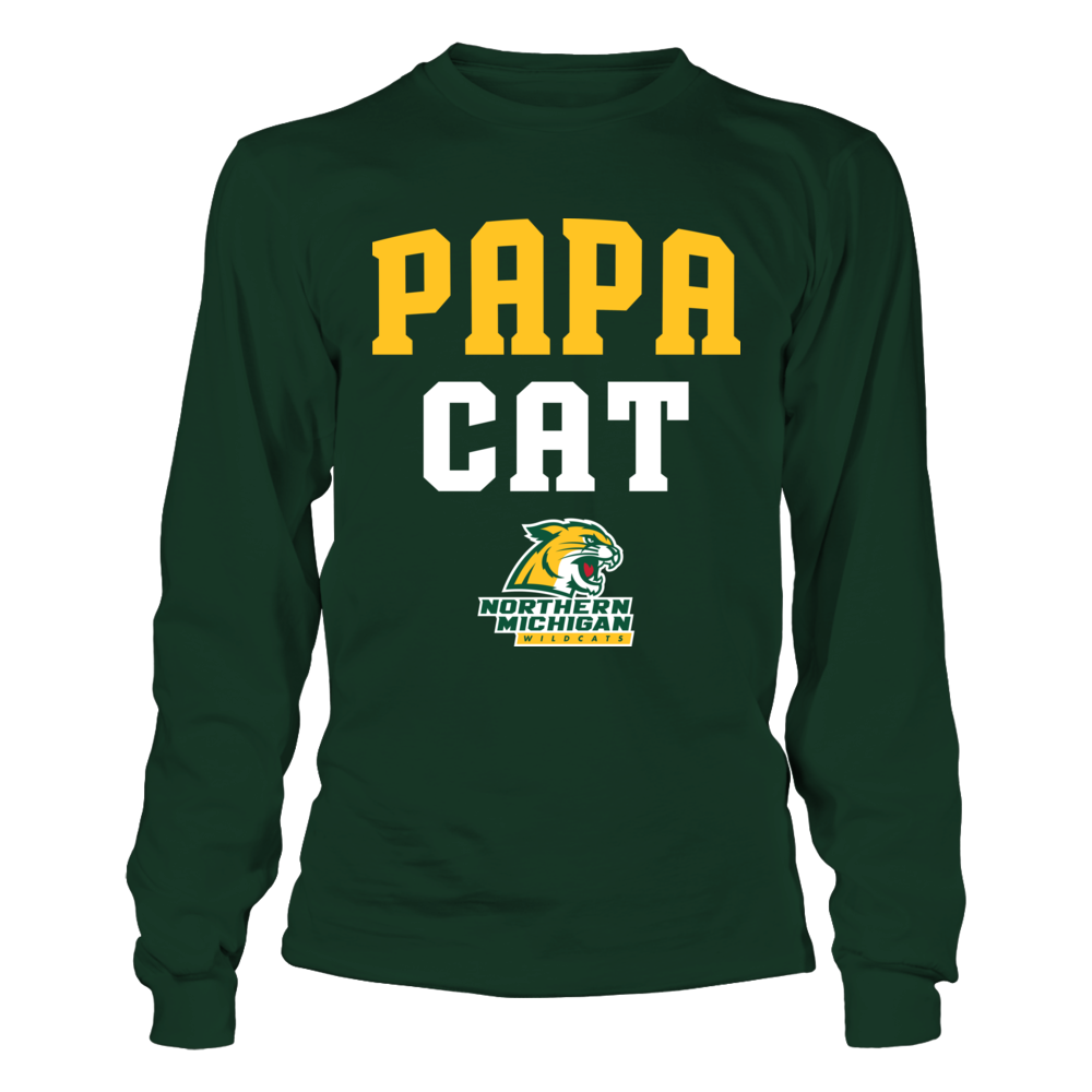 Northern Michigan Wildcats - Papa Cat Front picture