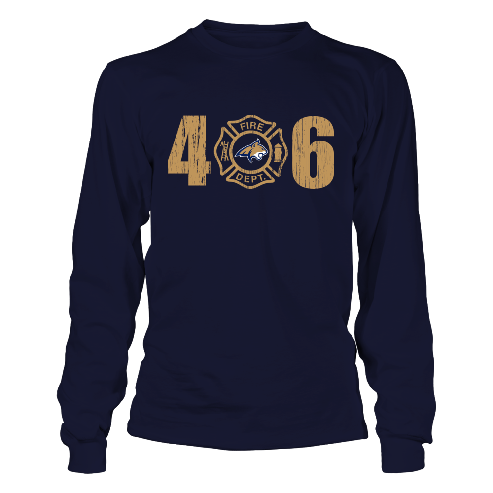 Montana State Bobcats - Firefighter Logo Inside Area Code Front picture