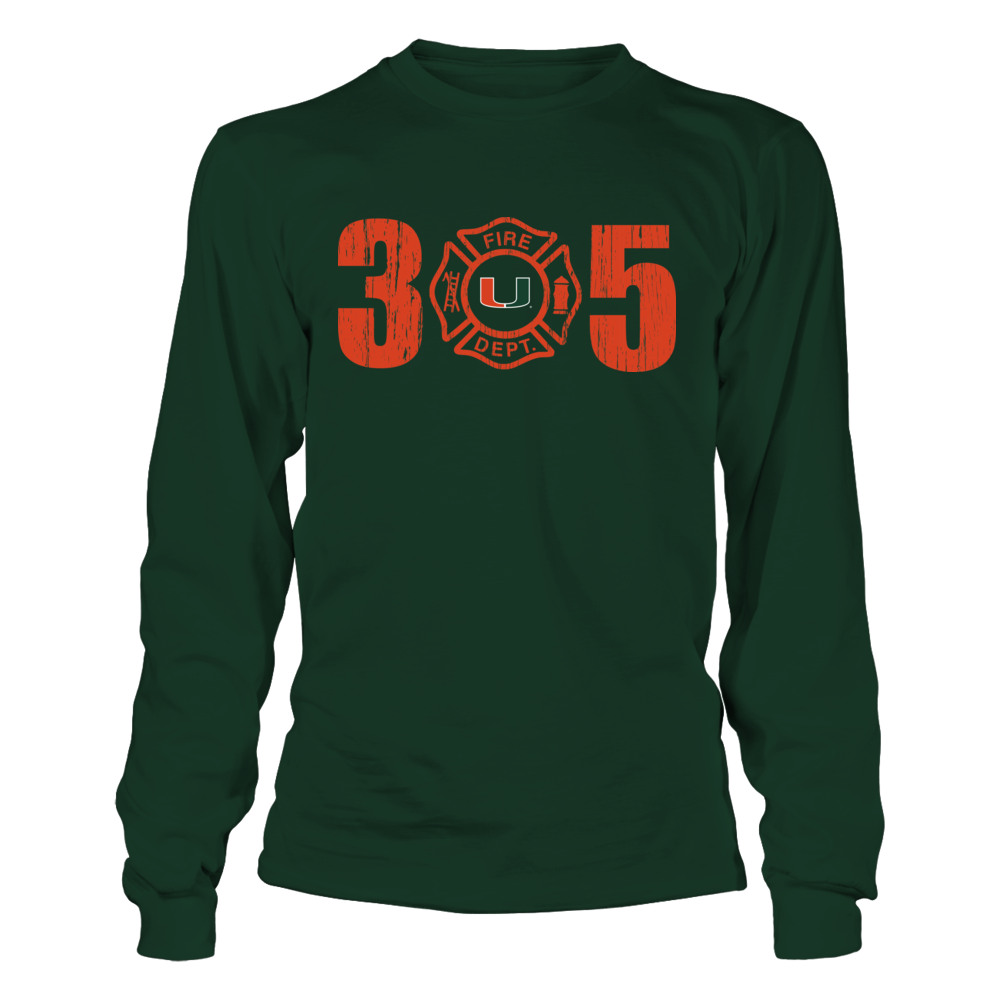 Miami Hurricanes - Firefighter Logo Inside Area Code Front picture