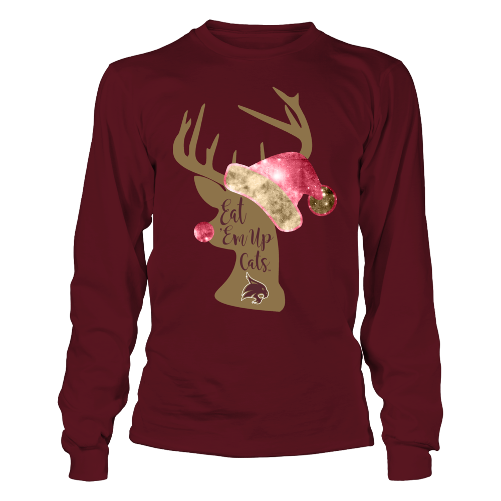 Texas State Bobcats - Christmas - Team Slogan Rudolph Front picture