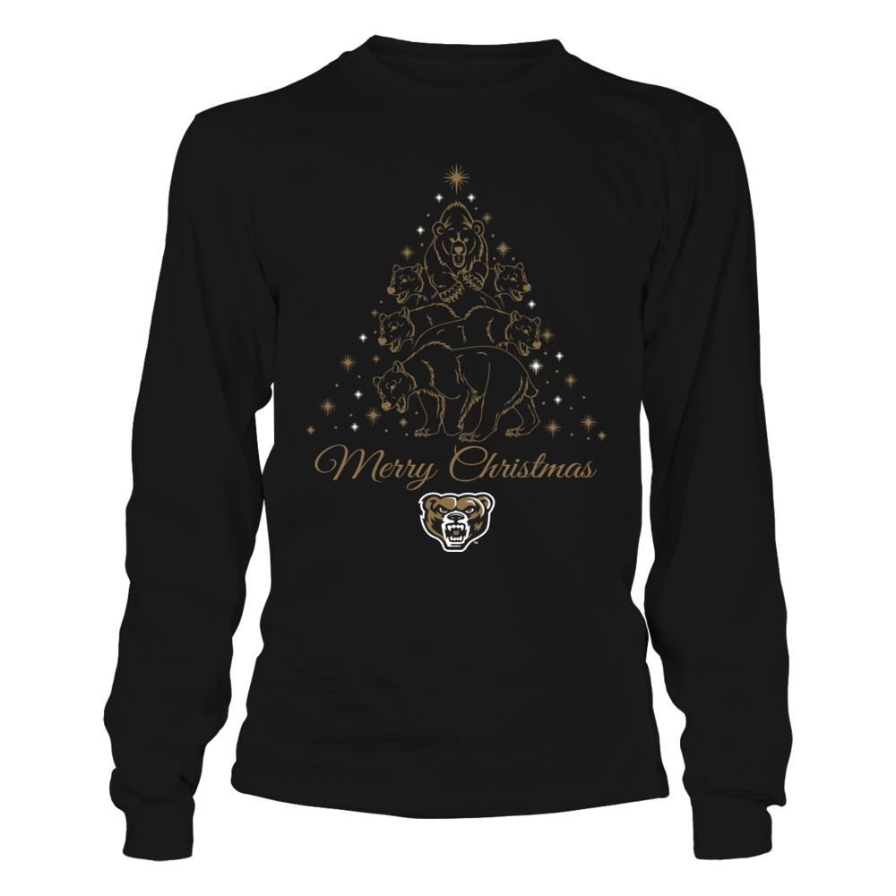 Oakland Golden Grizzlies - Mascot Xmas Tree Front picture