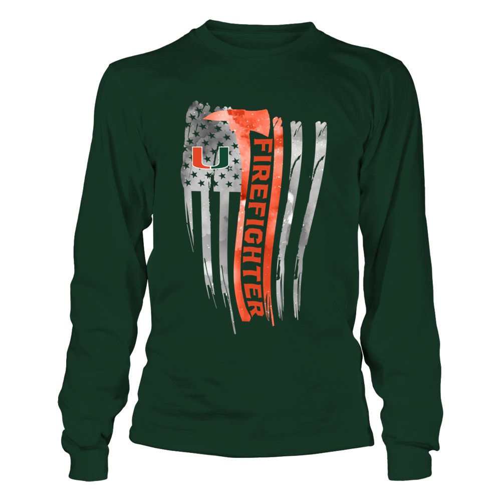 Miami Hurricanes - Firefighter - Galaxy Flag Shirt Front picture