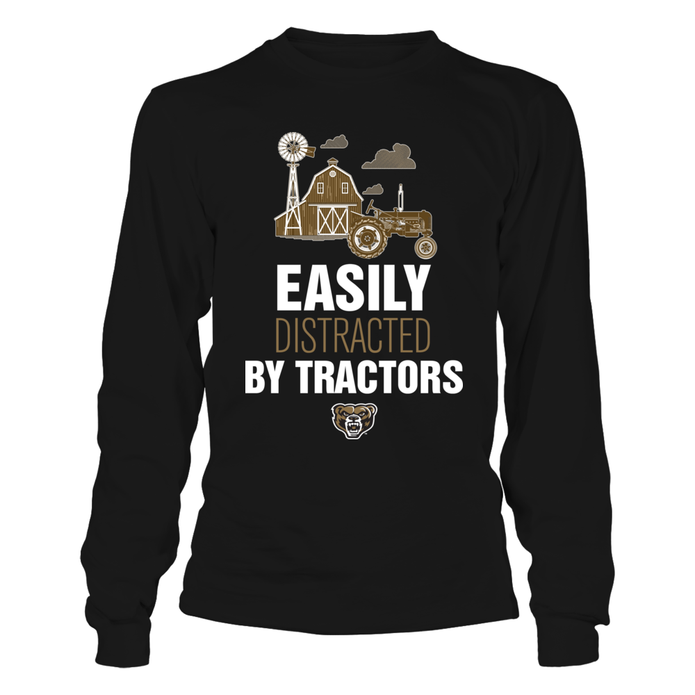 Oakland Golden Grizzlies - Farmer - Easily Distracted By Tractors Front picture