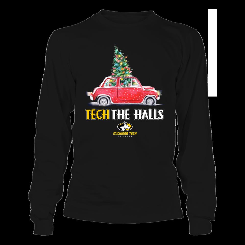 Michigan Tech Huskies - Tech The Halls Christmas Truck - Team Slogan Front picture
