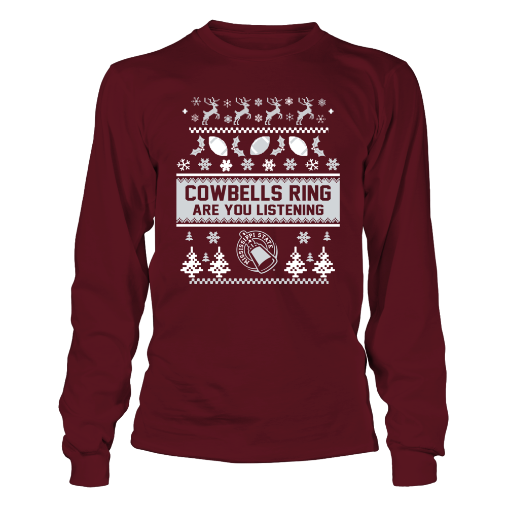 Mississippi State Bulldogs - Christmas - Team Quote Ugly Sweaters Front picture