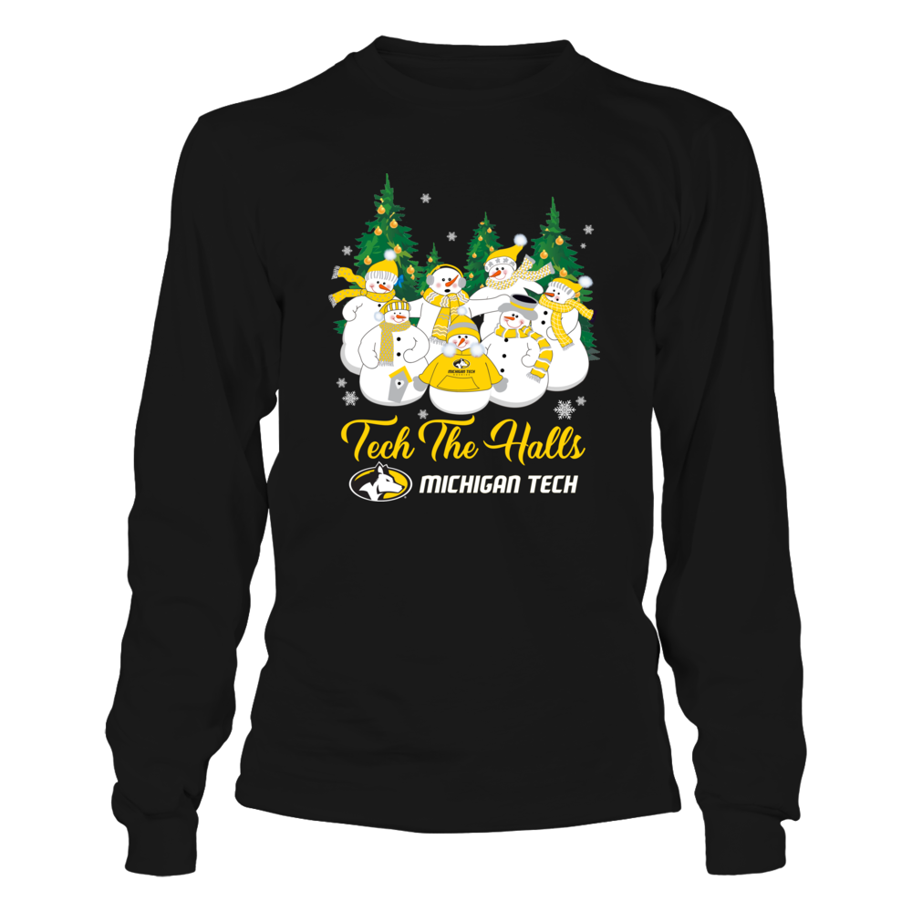 Michigan Tech Huskies - Christmas - Merry Christmas Snowman - Team Quote Front picture