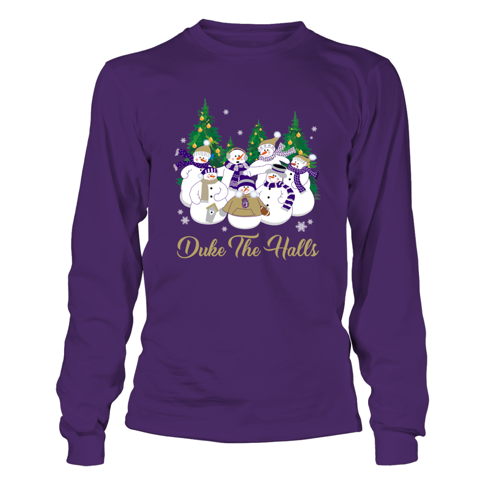 James Madison Dukes - Christmas - Merry Christmas Snowman - Team Quote Front picture