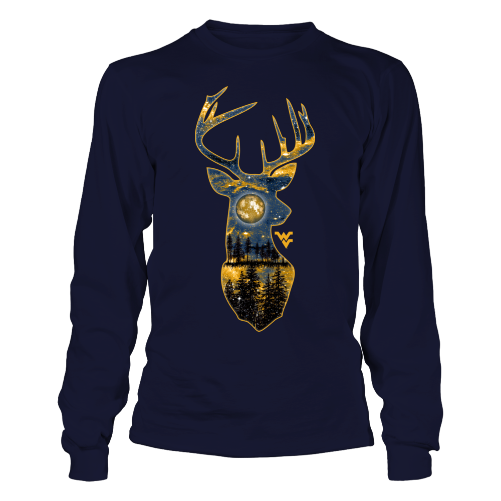 West Virginia Mountaineers - Hunting - Galaxy Night Inside Deer Front picture