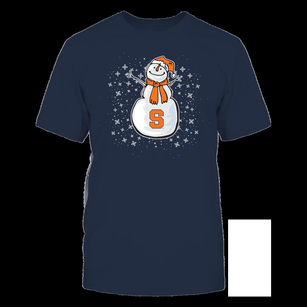 Cute Snowman Syracuse Orange T-Shirt | Tank Front picture