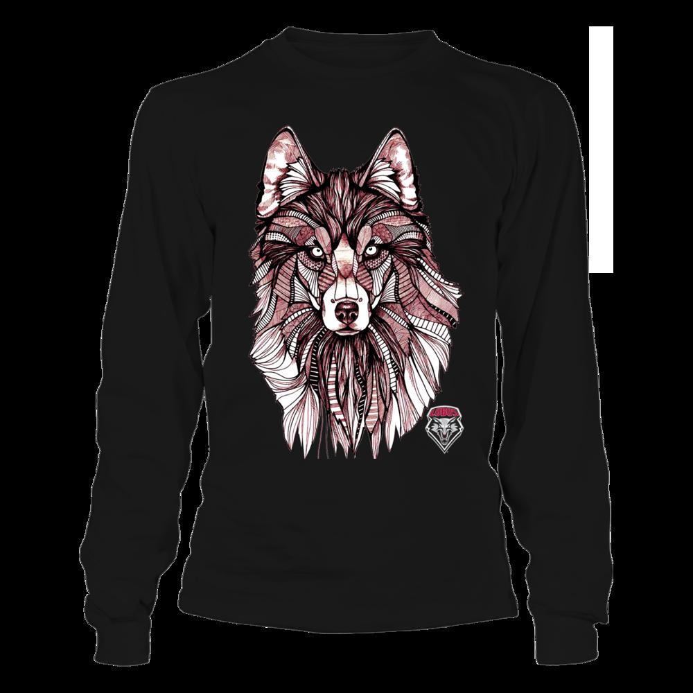 New Mexico Lobos - Mandala Mascot Front picture