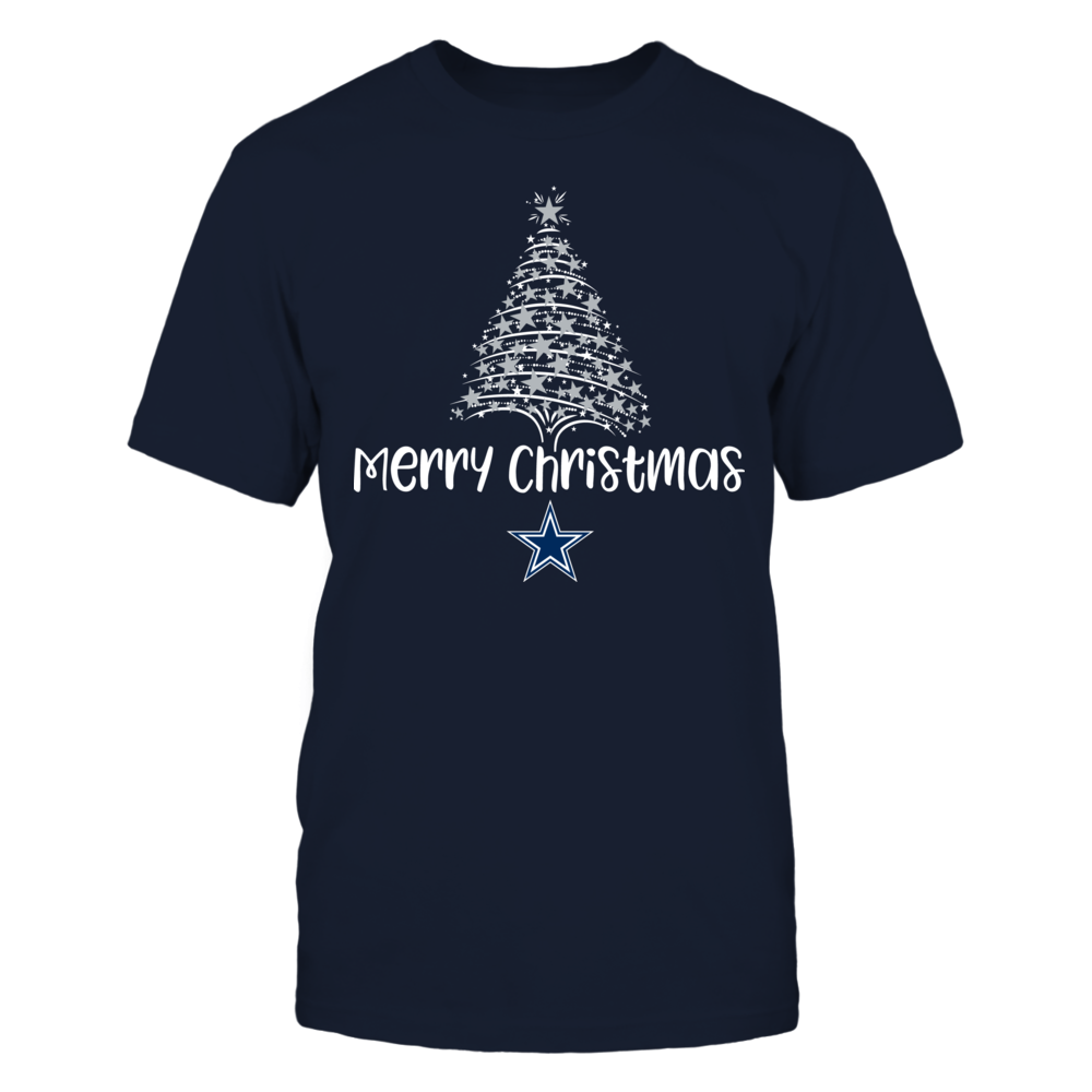 Starry Christmas Tree Dallas Cowboys T-Shirt | Tank Front picture