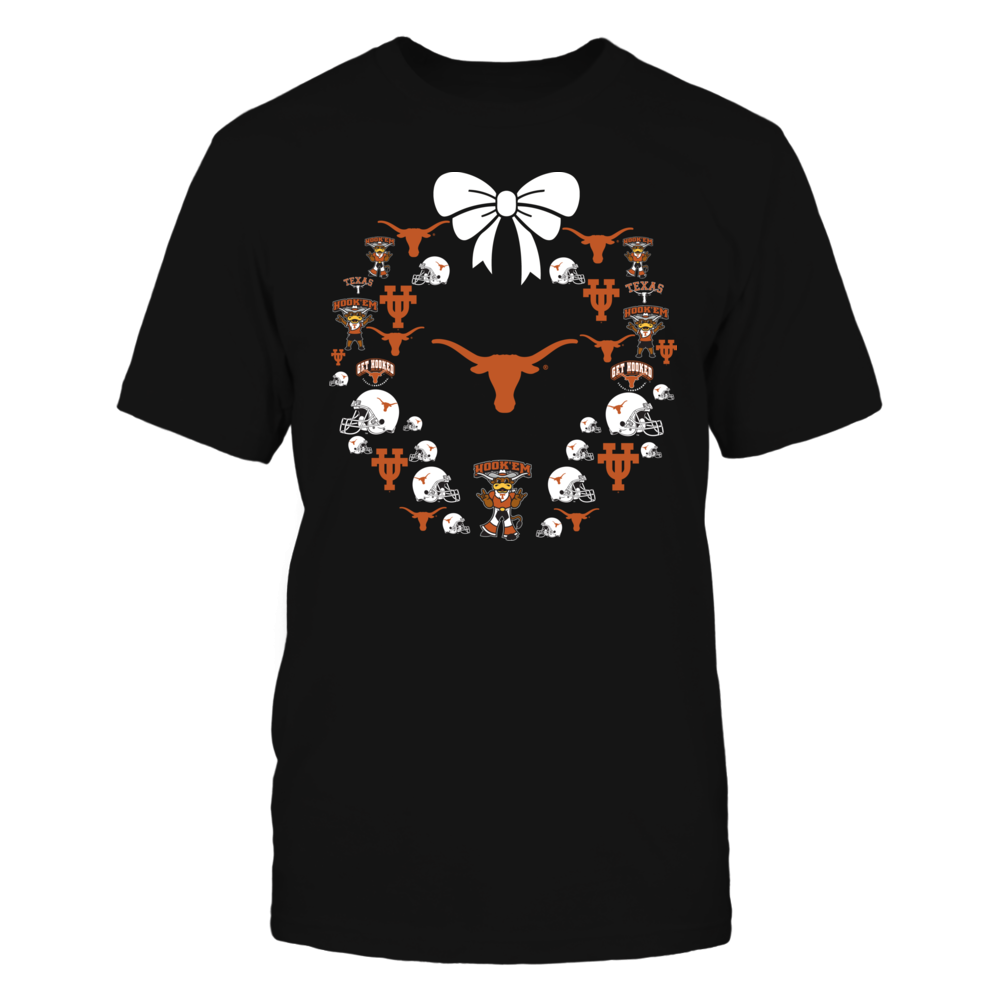 Texas Longhorns - Football Pattern Wreath Front picture
