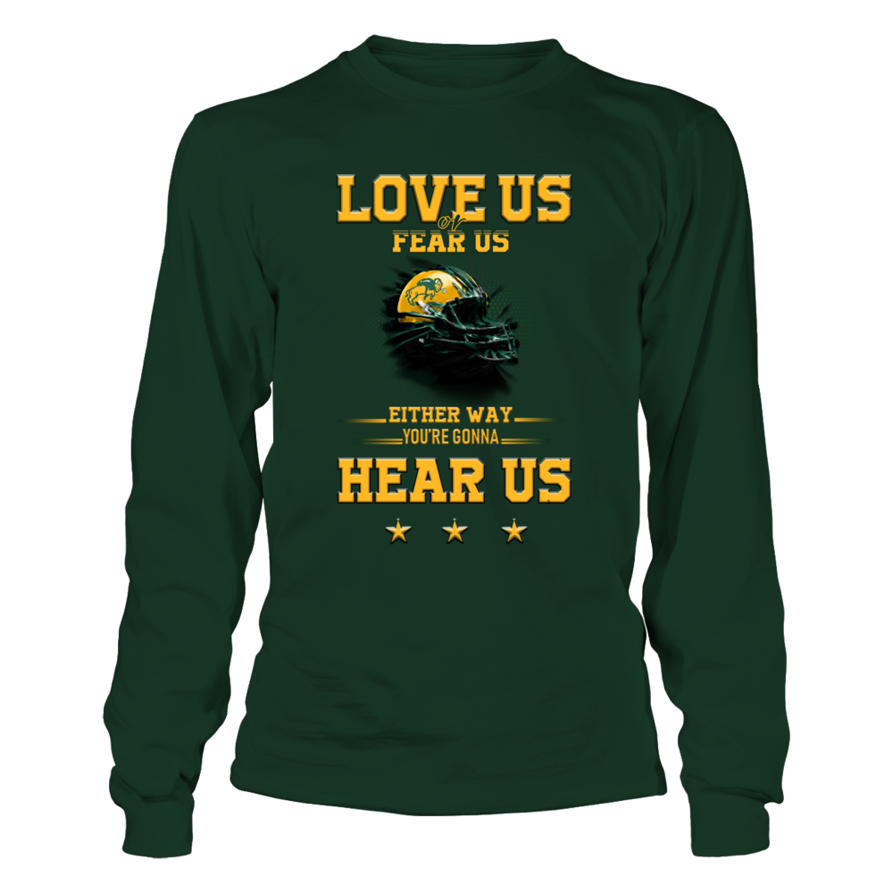 North Dakota State Bison - Love Us Or Fear Us Helmet Front picture