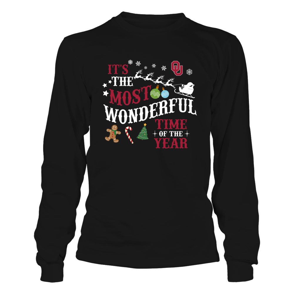 Oklahoma Sooners - Christmas - Wonderful Time Sleigh Front picture
