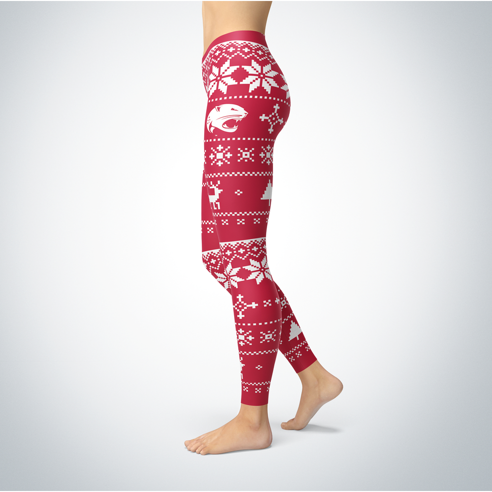 Knitted Christmas South Alabama Jaguars Leggings Front picture