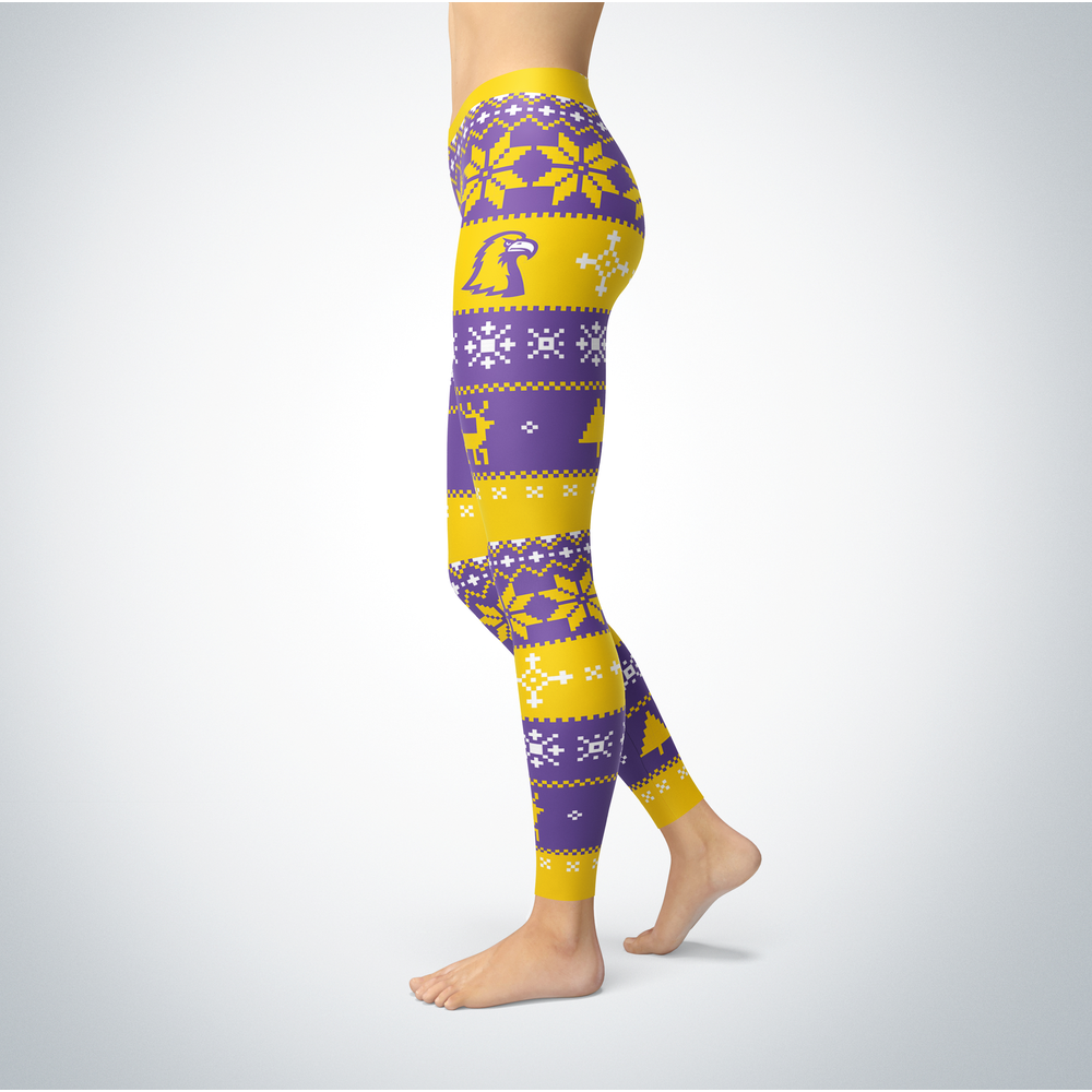 Knitted Christmas Tennessee Tech Golden Eagles Leggings Front picture