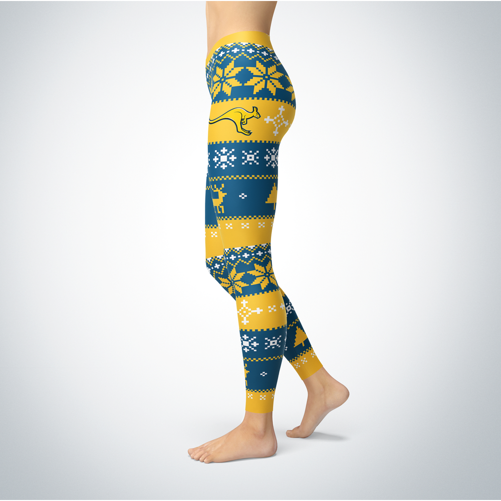 Knitted Christmas UMKC Kangaroos Leggings Front picture