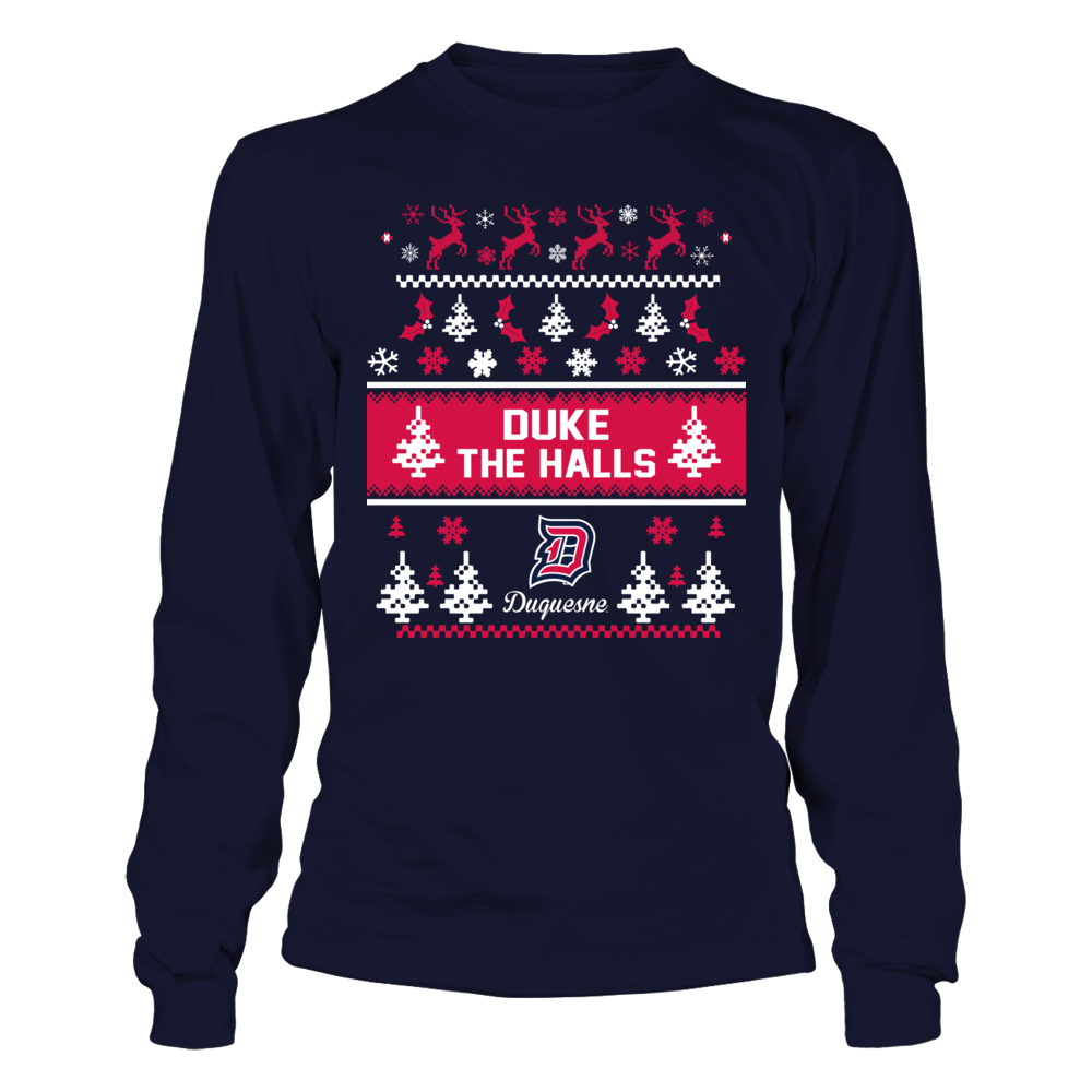 Duquesne Dukes - Christmas - Team Quote Ugly Sweaters Front picture