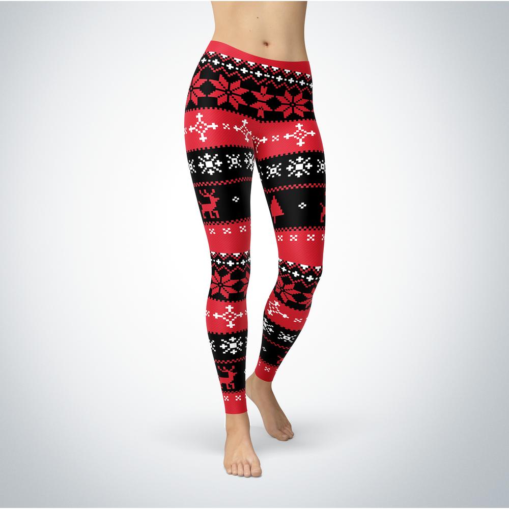 Knitted Christmas - Nebraska Omaha Mavericks - Leggings Front picture