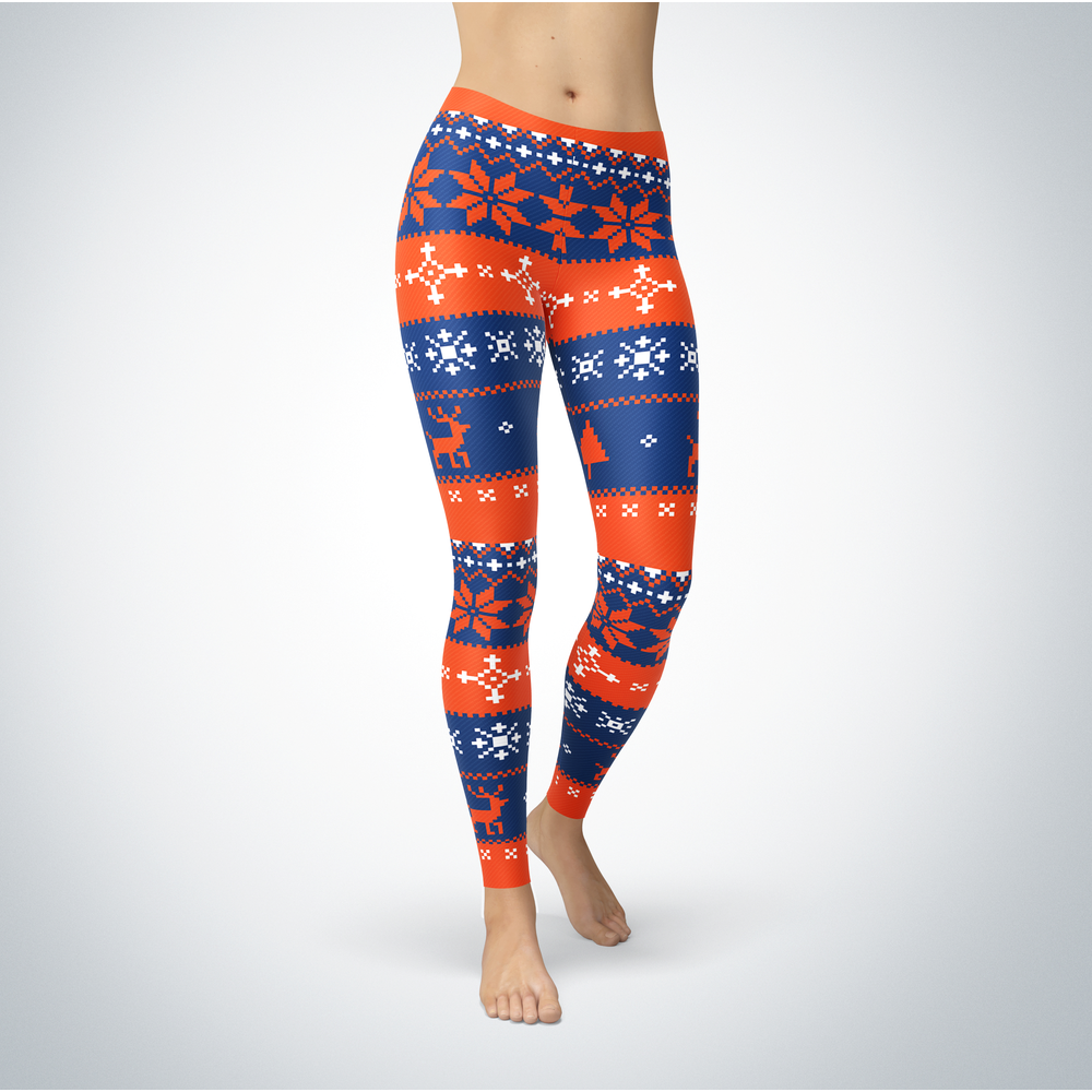 Knitted Christmas - Houston Baptist Huskies - Leggings Front picture
