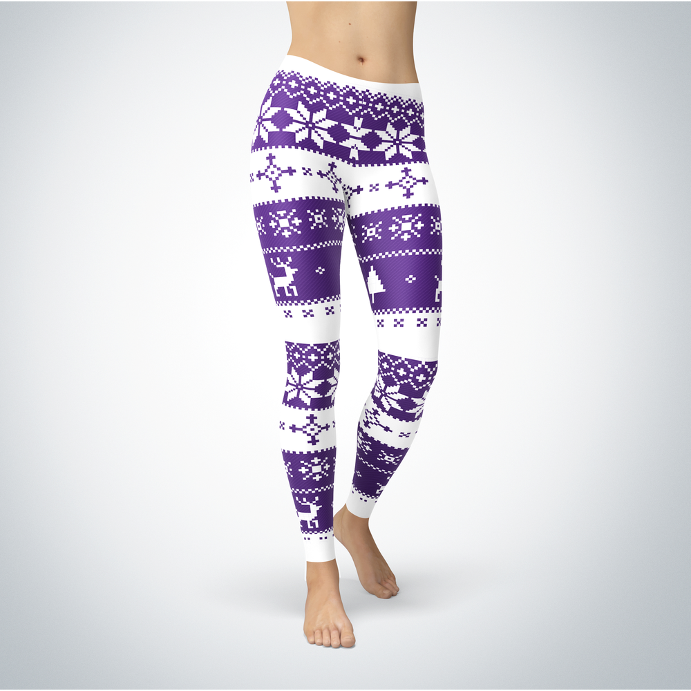 Knitted Christmas - North Alabama Lions - Leggings Front picture