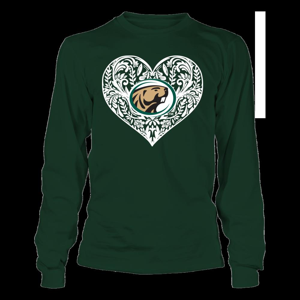 Bemidji State Beavers - Pattern Heart Front picture