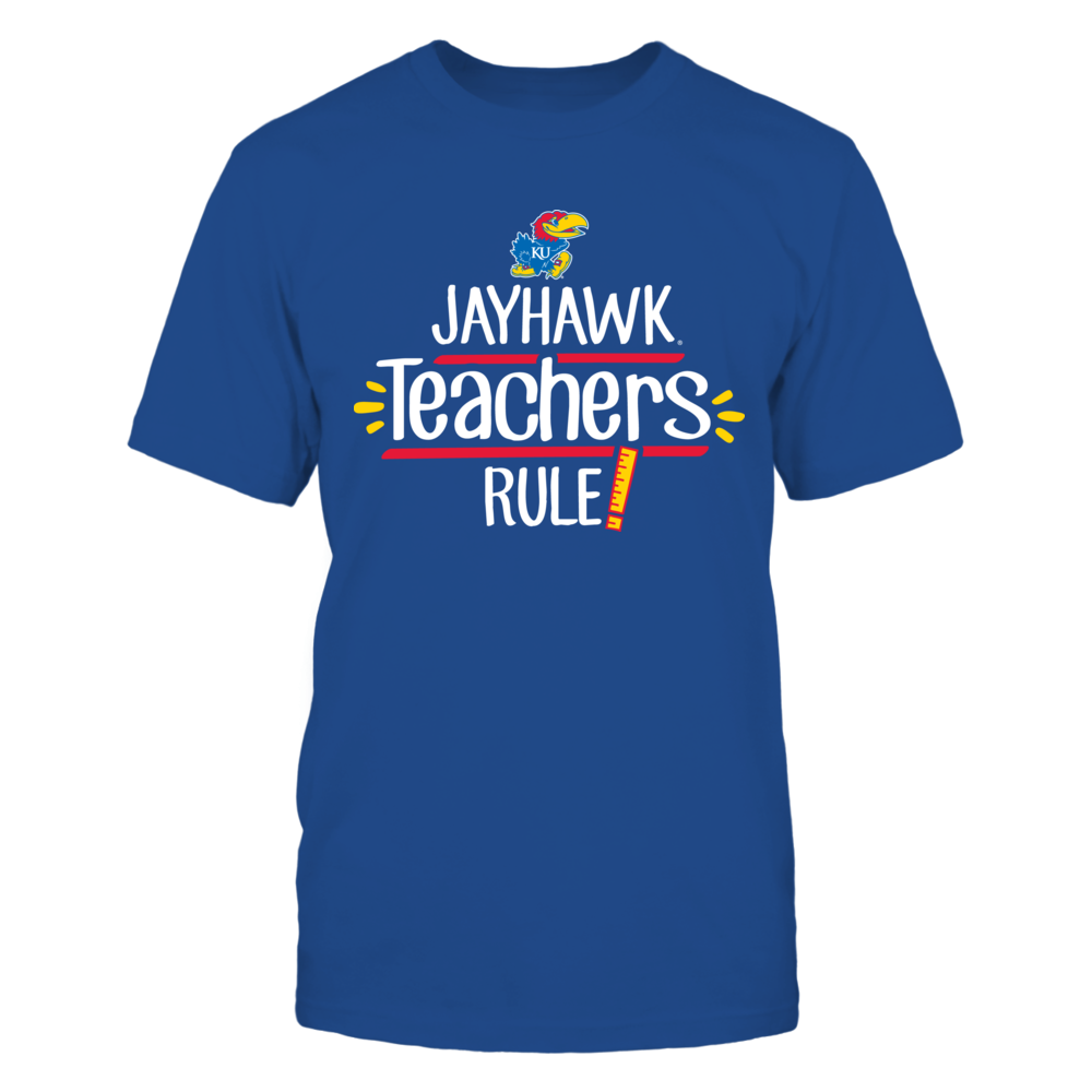 Jayhawk Teachers Rule Kansas Jayhawks T-Shirt Front picture