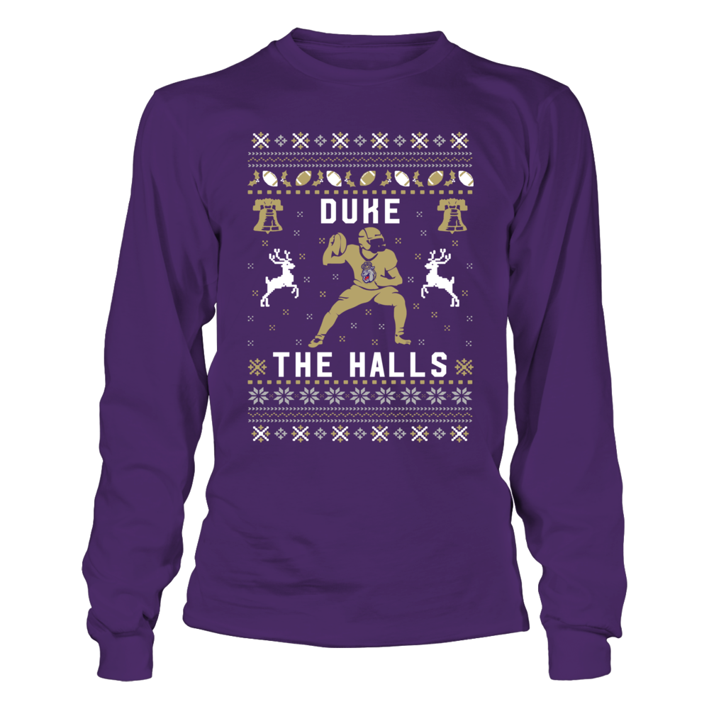 James Madison Dukes - Christmas - Football Ugly Sweater - Team Christmas Quote Front picture