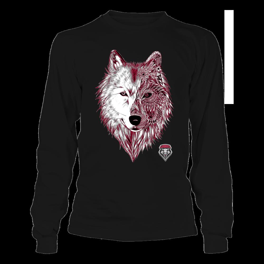 New Mexico Lobos - Half Mandala Mascot Front picture