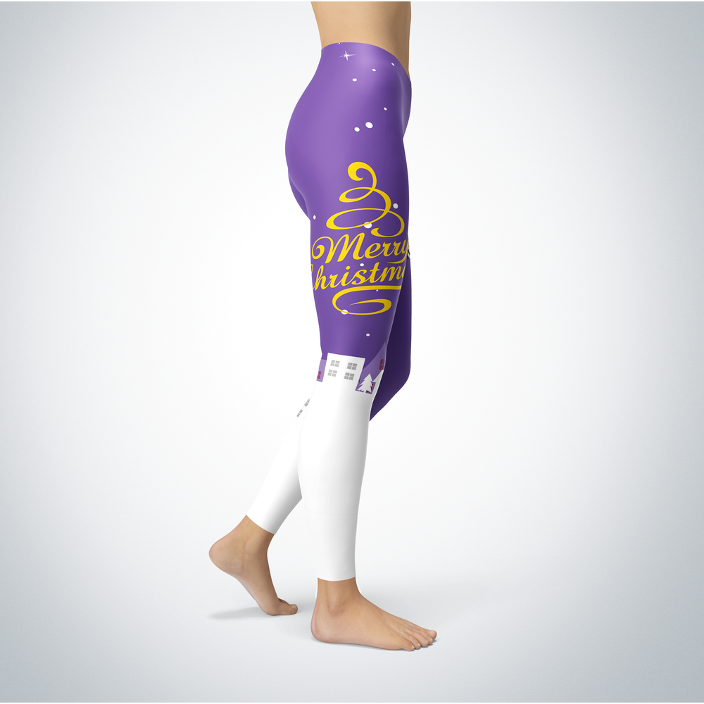 Santa Merry Christmas - Tennessee Tech Golden Eagles - Leggings Front picture