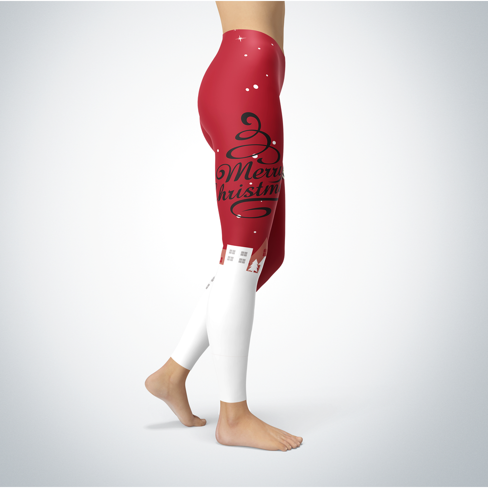 Santa Merry Christmas - Saginaw Valley State Cardinals - Leggings Front picture