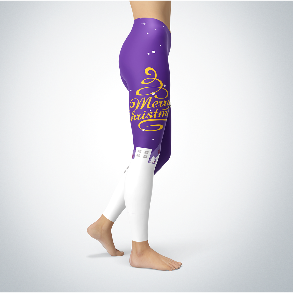 Santa Merry Christmas - Wisconsin-Stevens Point Pointers - Leggings Front picture