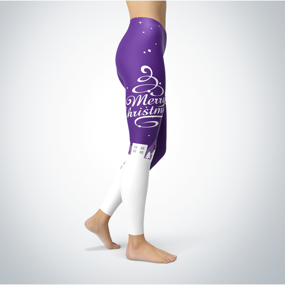 Santa Merry Christmas - North Alabama Lions - Leggings Front picture
